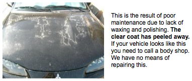 oxidation damage car paint