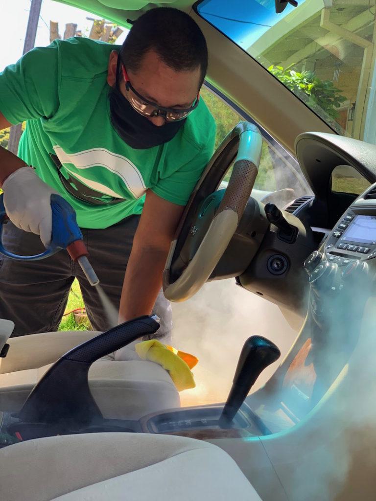 Car interior detail covid19 disinfecting, Alameda County, East Bay, Lamorinda